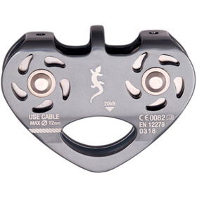 Fixe Double Pulley for Zip Line, grey